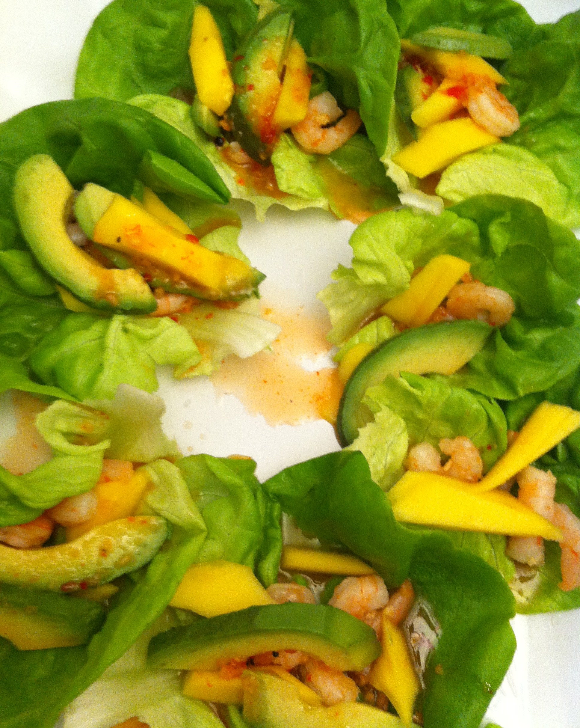 Shrimp and Mango Lettuce Wraps